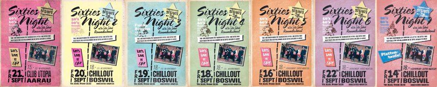 Alle bisherigen Sixties-Nights